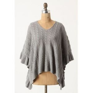 MOTH Anthro Arched Ripples Poncho Sweater Knit Top